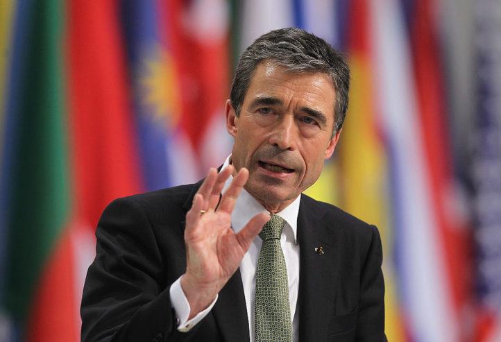 圖為安德斯·福格·拉斯穆森(Anders Fogh Rasmussen)。(Sean Gallup/Getty Images)