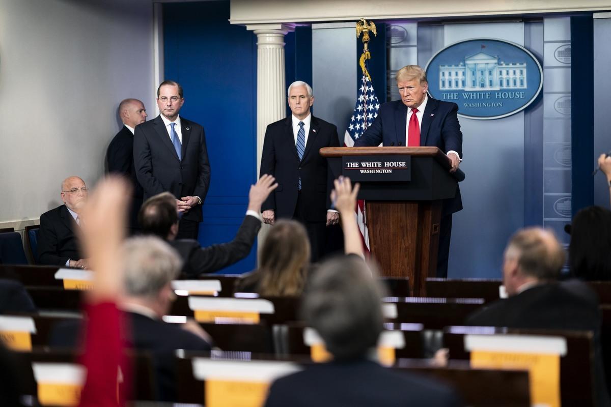 美國總統特朗普警告,他將好好檢視WHO的所作所為,不排除切斷美國提供給WHO的資金。(白宮Flicker)