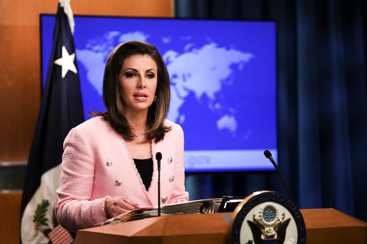 圖為美國國務院發言人摩根·奧塔格斯(Morgan Ortagus)。(Samira Bouaou/The Epoch Times)