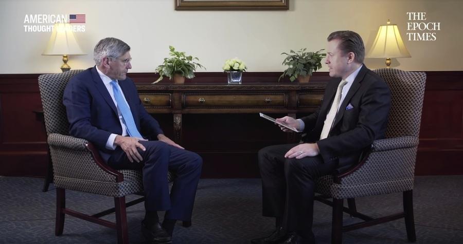 英文大紀元專訪特朗普前顧問 論貿易戰勝負