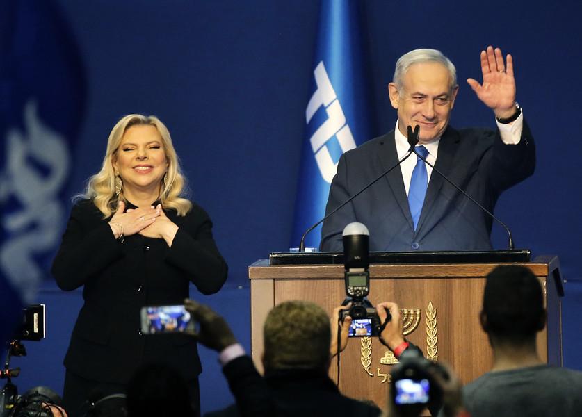 以色列大選 總理內塔尼亞胡宣佈獲勝