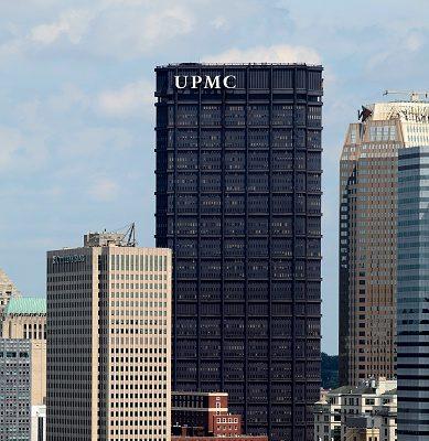 從賓州匹茲堡市的華盛頓山眺望匹茲堡大學醫學院(UPMC)。(Raymond Boyd/Getty Images)