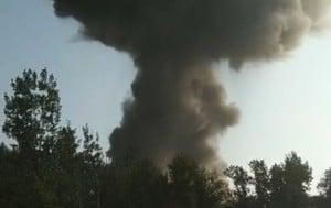 太原江陽化工廠發生爆炸 附近房屋玻璃震碎