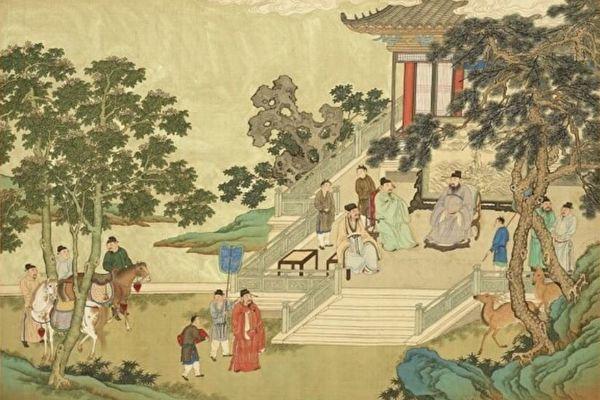 唐朝時候,朝廷特意表彰了工部尚書邢曹進。圖為《福壽齊天冊.嘉祐四真》,作者不詳。(公有領域)