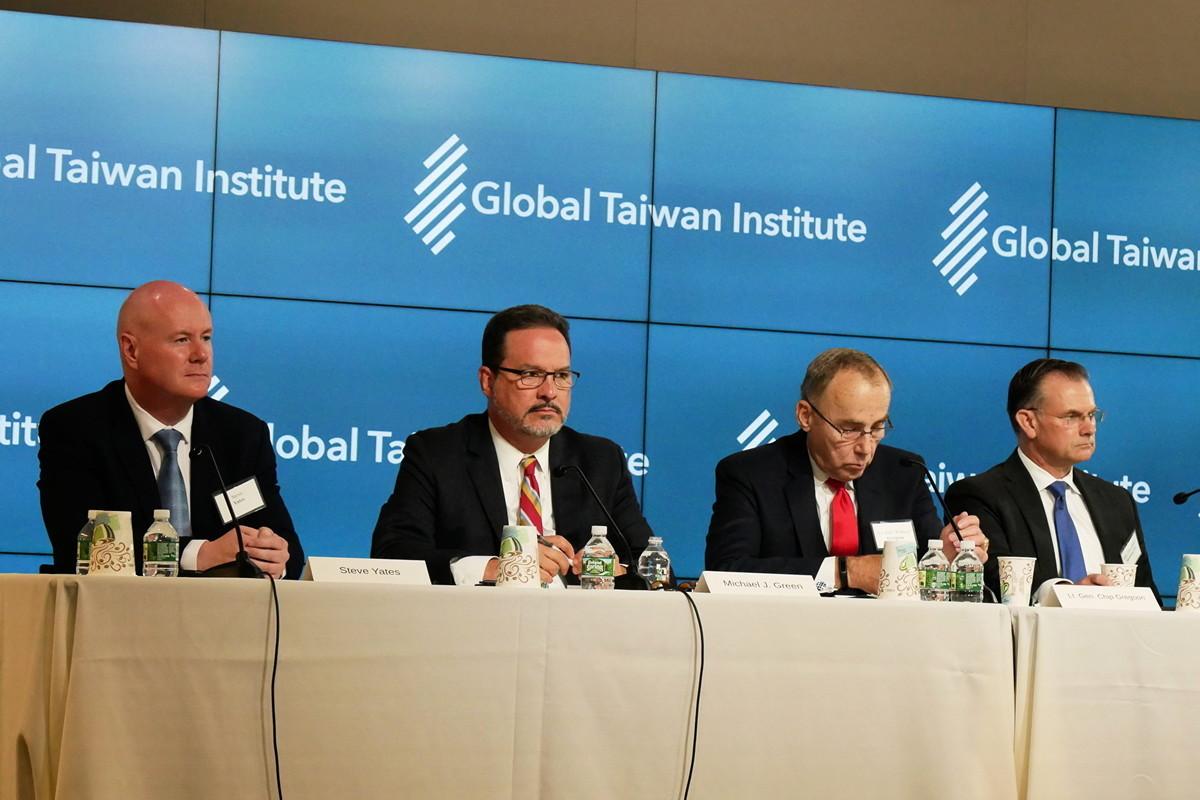 9月11日,數位美國政治精英在出席華府「全球檯灣研究所」(Global Taiwan Institute)活動。(李辰/大紀元)