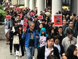 倫敦四千人集會遊行 聲援香港 反對惡法