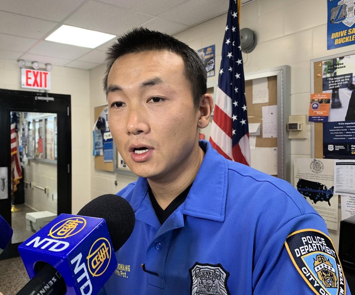 紐約皇后區111分局警員昂旺。(大紀元資料圖)