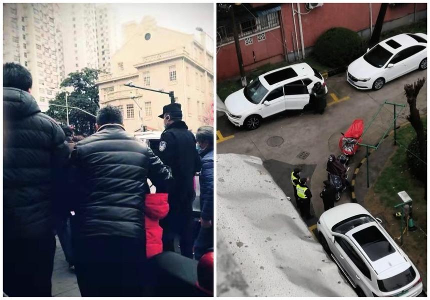 兩會臨近 上海訪民政府前表達訴求被維穩