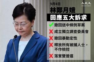 林鄭撤回修例 中共被自己煽動的網民反噬