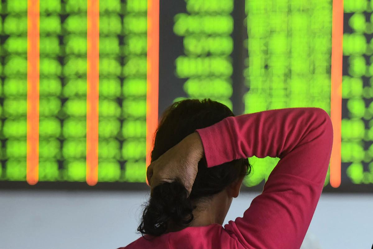 大陸房企股票被甩賣。(STR/AFP/Getty Images)