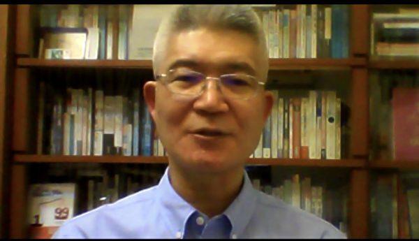 台灣中正大學傳播學系胡元輝教授在會上發言。(網絡會議影片截圖)