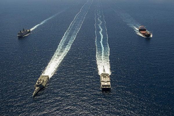 美國計劃增加在亞太軍事和人道主義演習的數量,作為遏制中共在南海快速擴張新戰略的一部分。(AFP PHOTO/US NAVY/Mark C. Schultz)