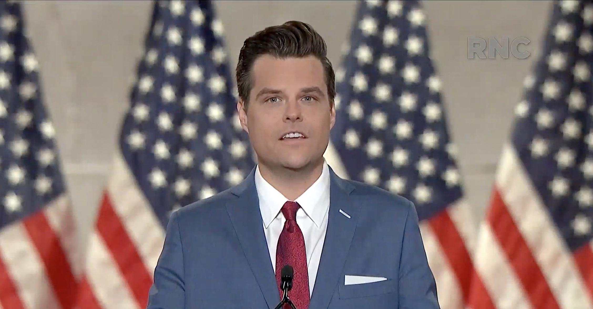周日(12月20日),佛州國會眾議員眾議員馬特‧蓋茨(Matt Gaetz)表示,他計劃在1月6日國會聯席會議上對選舉人團投票結果進行挑戰。資料圖(Republican National Convention/AFP)