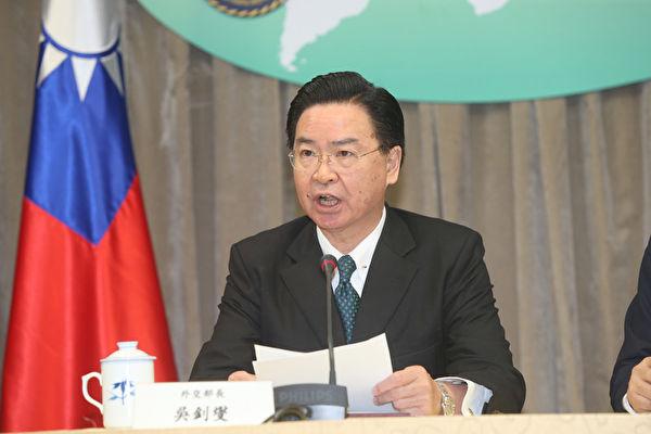 台灣外交部長吳釗燮。(中央社)