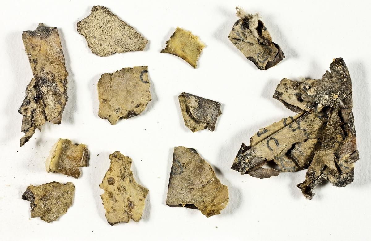 以色列考古學家近日在一處沙漠洞穴中發現數十片新的死海古卷碎片,上面寫有聖經經文,這是近60年來在耶路撒冷以南沙漠中發現的首批古卷。(Israeli Antiquities Authority/AFP)