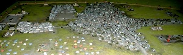 蒙古國家博物館的蒙古帝國時期的哈拉和林首都模型(公有領域)