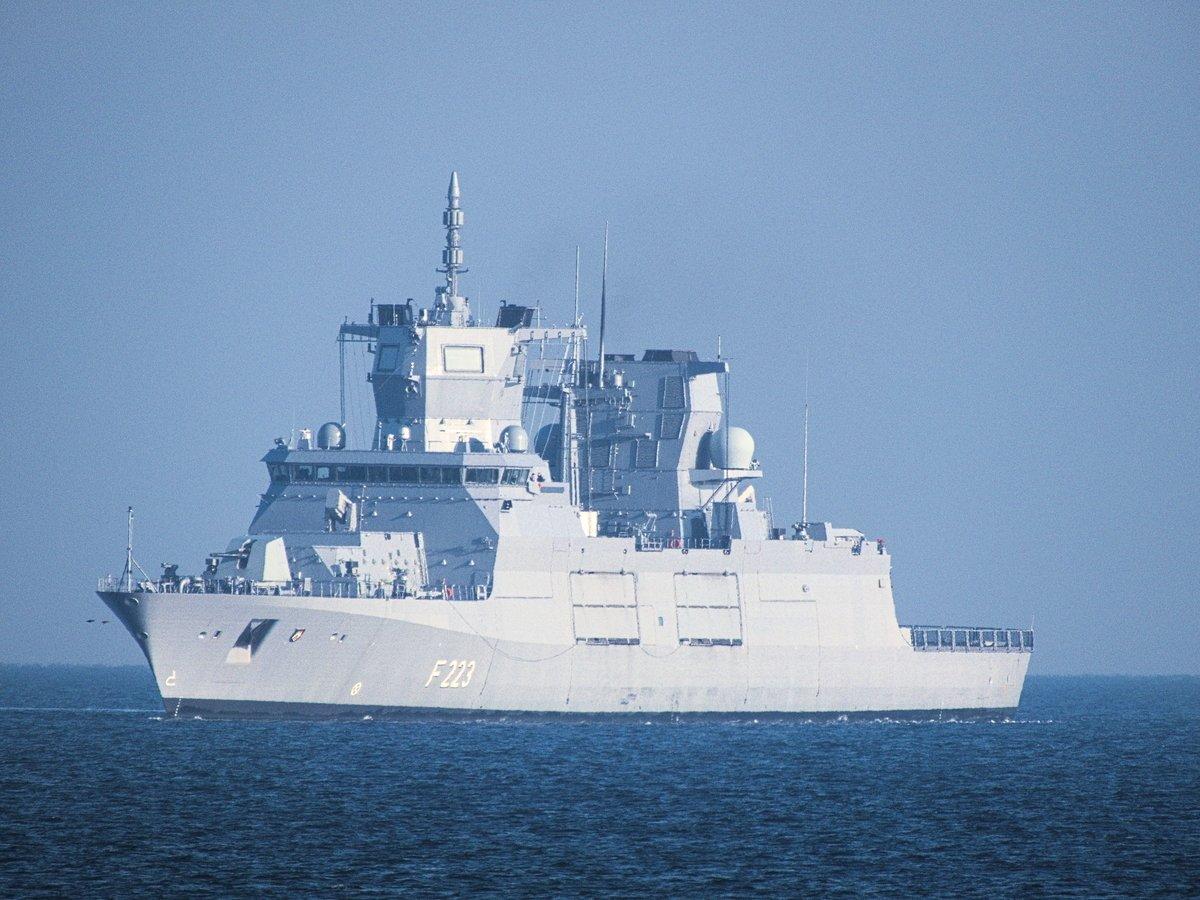 德國政府正研議派遣軍艦通過台灣海峽。圖為德國海軍北萊茵-西發利亞號護衛艦。 (維基百科公有領域)