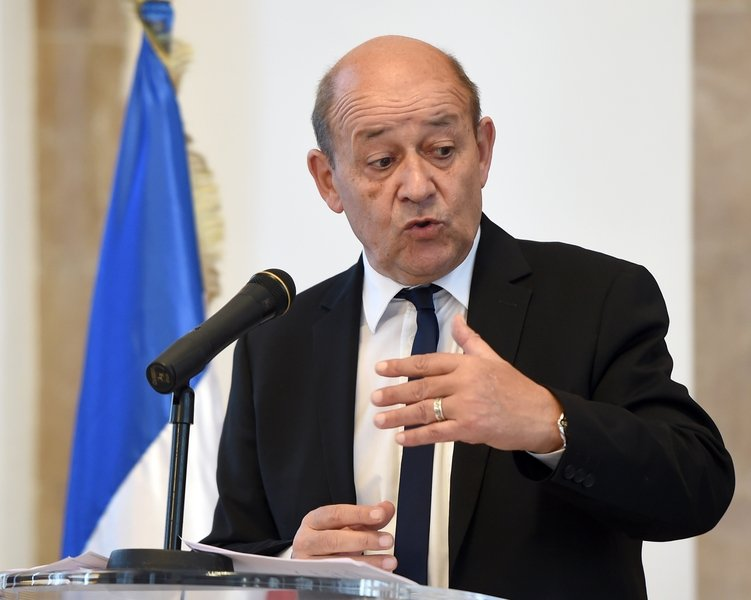 法國外交部長勒德里安(Jean-Yves Le Drian)。(FETHI BELAID/AFP/Getty Images)