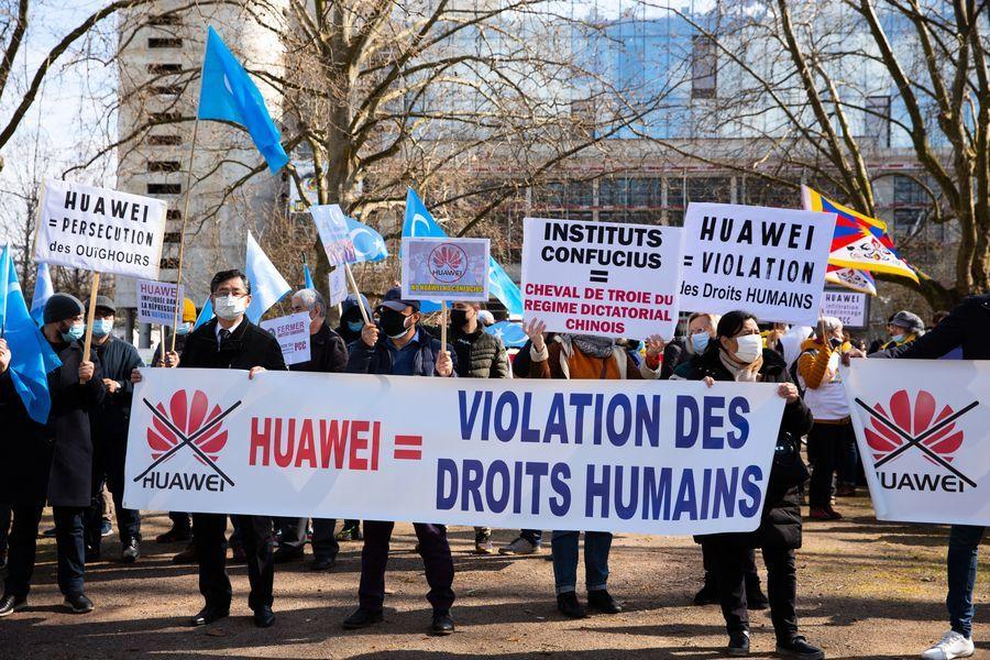 華為於法國大東部建廠 民間抗議引關注(多圖)