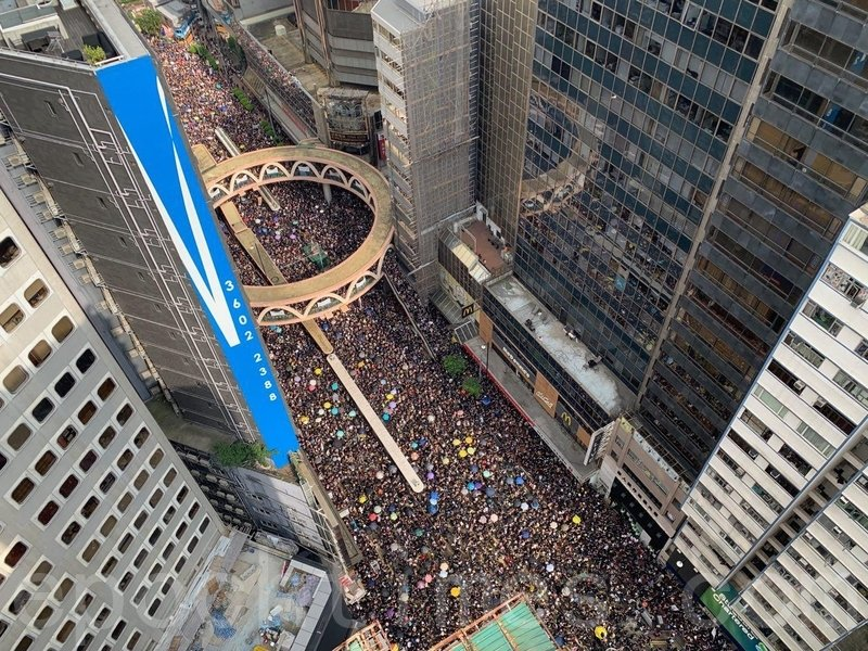 組圖3:空拍香港6‧16反送中 聲勢浩大