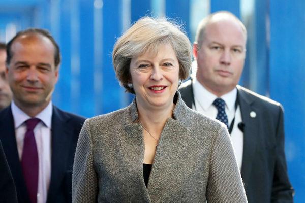 圖為英國首相文翠珊2016年10月2日宣佈,英國將在第二年3月底前正式啟動脫離歐盟的程序。(Matt Cardy/Getty Images)