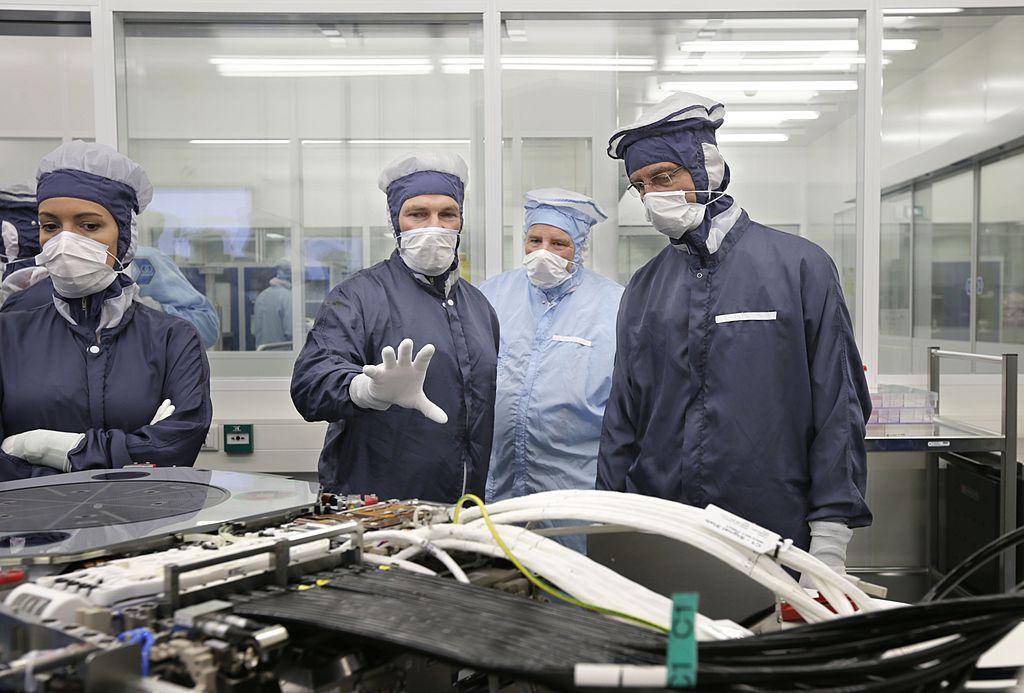 總部位於荷蘭Veldhoven的ASML公司製造最先進的晶元機。(Joyce van Belkom/AFP via Getty Images)
