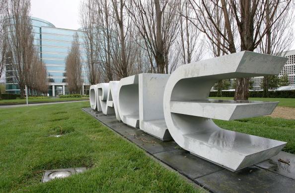 圖為加州甲骨文(Oracle)公司( Justin Sullivan/Getty Images 2006-3-20)