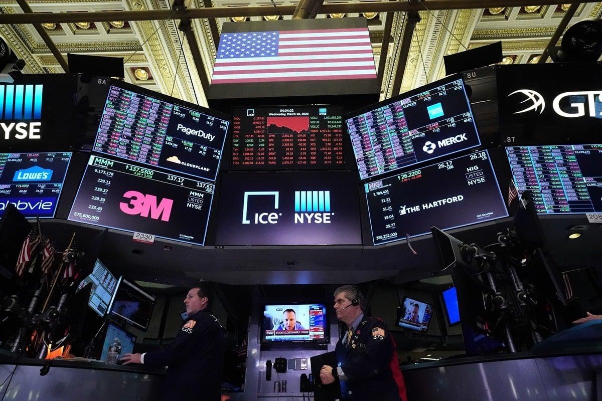 在線教育上市公司跟誰學於2019年6月6日在美國紐交所上市。圖為2020年3月18日紐約證券交易所。(AFP/Getty Images)
