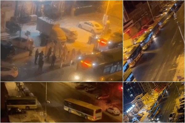 黑龍江省再次成為新一輪的疫情重災區。哈爾濱數十輛大巴連日拉人。(大紀元合成)