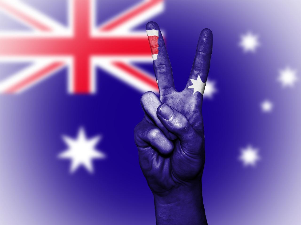 一位中國問題專家表示,澳洲在關鍵時刻能否堅持與中共抗衡,將對全世界有「歷史意義」。圖為澳洲國旗。(David Peterson/Pixabay)