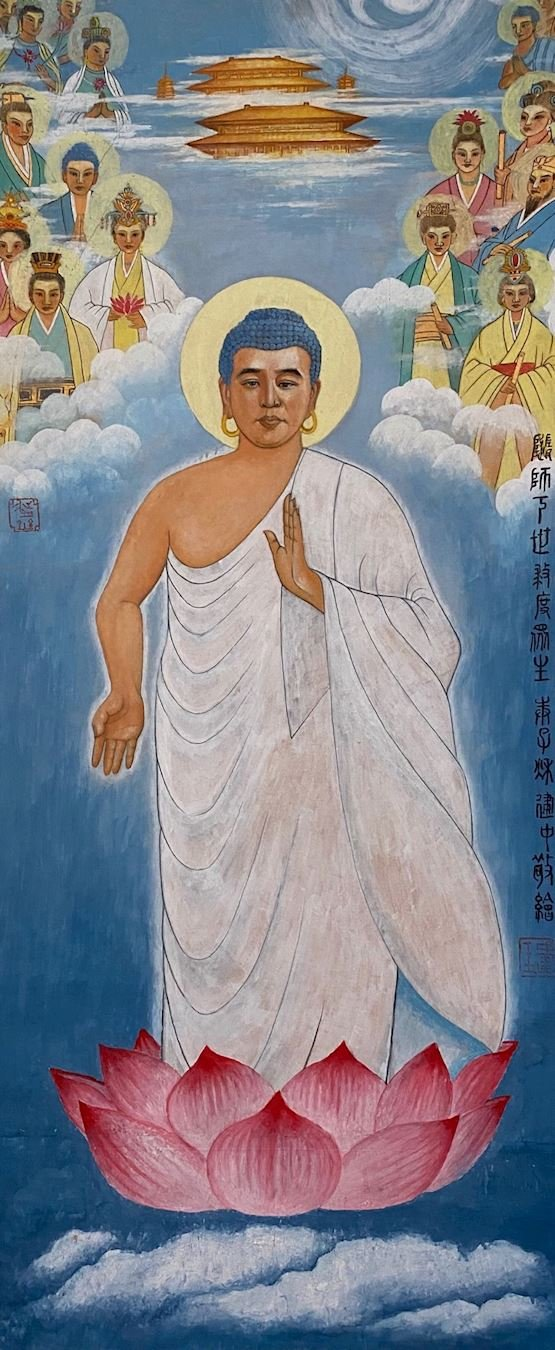 隨師下世救度眾生(中國工筆畫)(明慧網)