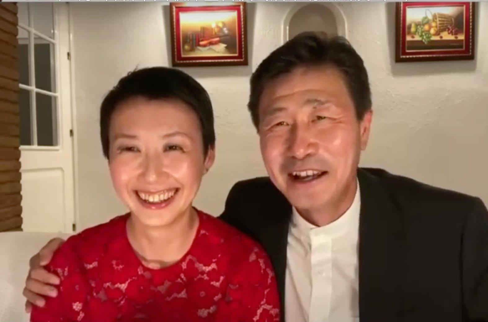 郝海東和妻子葉釗穎。(路德節目影片截圖)