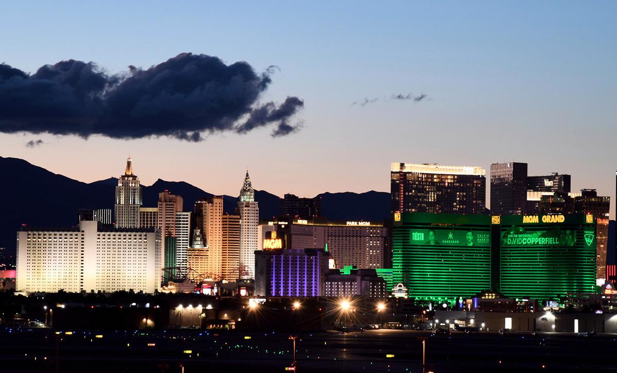 圖為美國內華達州(Nevada)拉斯維加斯賭場飯店。(攝於2020年3月15日)(Ethan Miller/Getty Images)