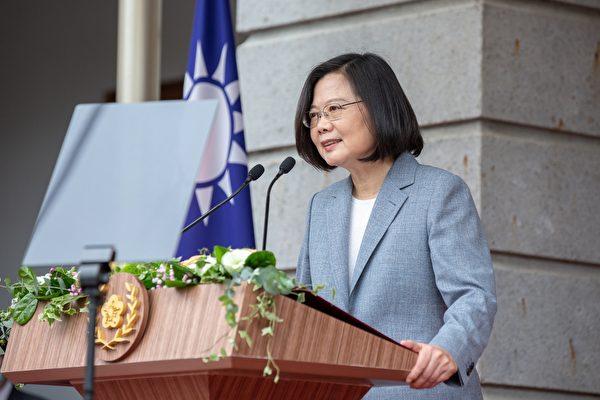 5月20日,中華民國總統蔡英文宣誓就職,她半小時的就職演講引來好評。(總統府提供)