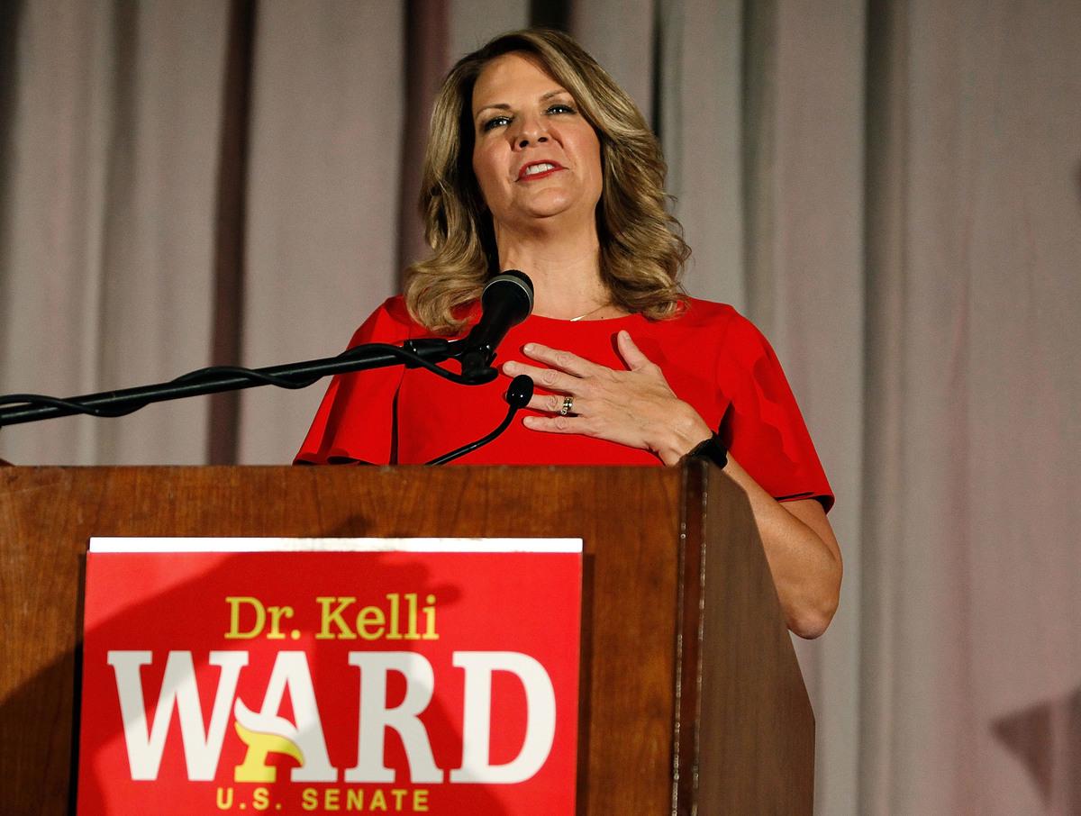 亞利桑那州共和黨主席凱利‧沃德(Kelli Ward)資料照。(Ralph Freso/Getty Images)