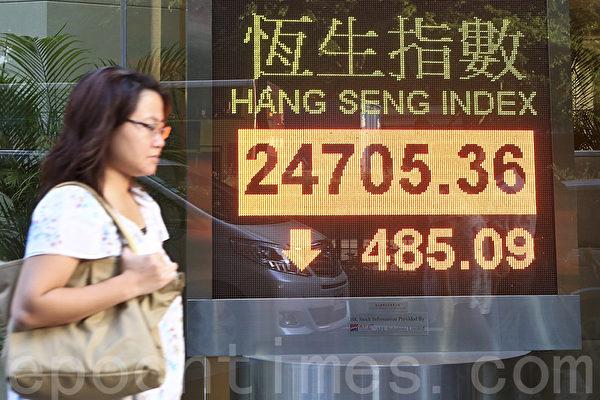 《日經亞洲評論》周一(6月3日)報道說,4月和5月通過香港股市投資中國的外國投資者減少了60%。中共寄望能依靠打贏貿易戰的「大貴人」貌似沒靠上。(余鋼/大紀元)