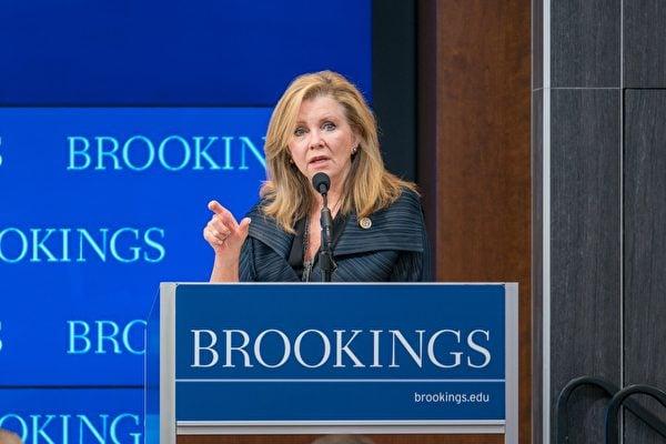 圖為共和黨參議員馬莎.布萊克本(Marsha Blackburn)。(石青雲/大紀元)