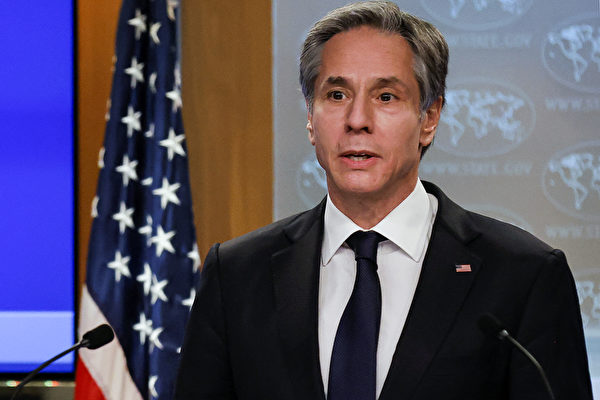 美國國務卿安東尼‧布林肯(Antony Blinken)。(CARLOS BARRIA/POOL/AFP)