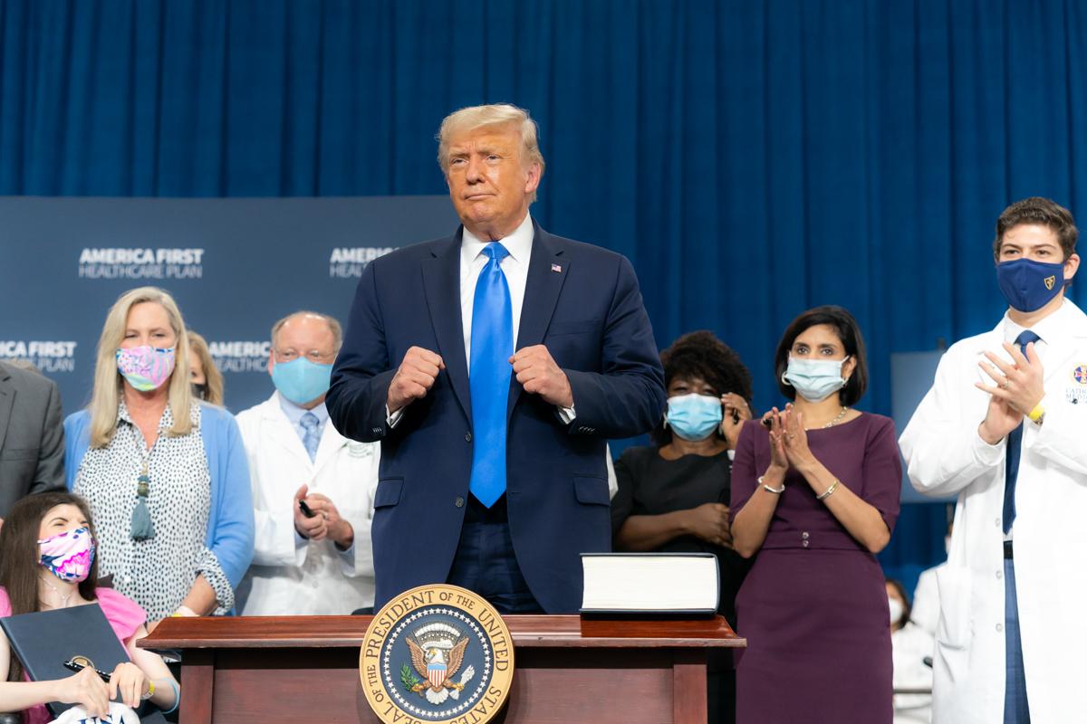 圖為特朗普總統。(Getty Images)