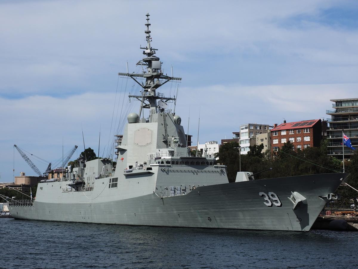 澳洲海軍荷巴特級驅逐艦。(Nick-D/維基百科)