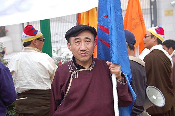 旅德內蒙古人民黨主席席海明,資料圖。(大紀元)