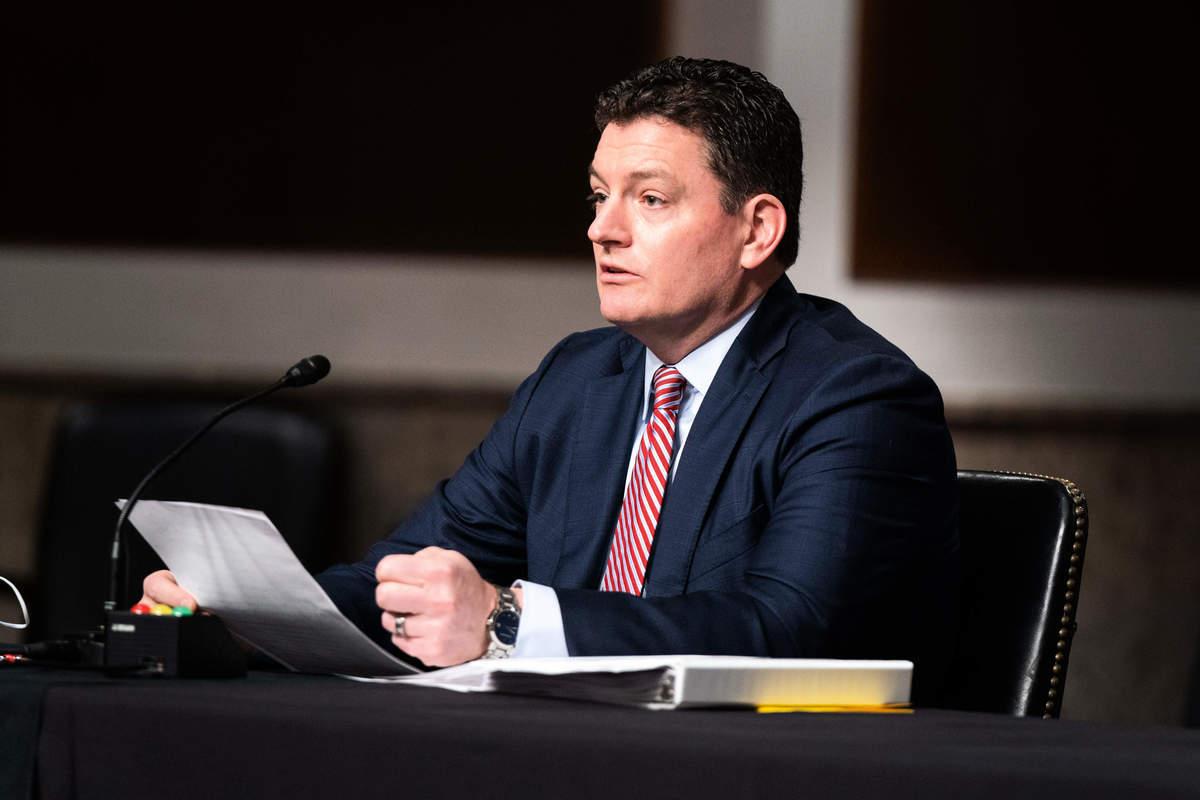 美國助理國防部長被提名人克里斯托夫·邁爾(Christopher Maier)。(Anna Moneymaker-Pool/Getty Images)