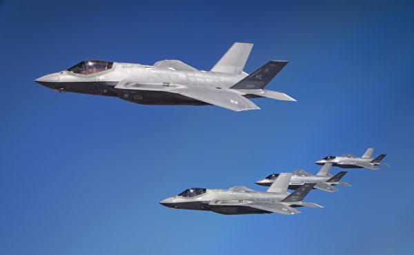 2020年10月12日,美國空軍F-35A閃電II和以色列空軍的F-35I戰鬥機一同訓練。(美國空軍)