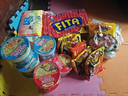 羅謝爾買的一些食物。(由羅謝爾‧雷耶斯提供)