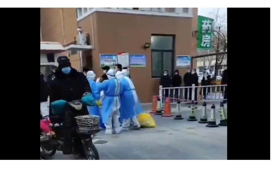 河北省邢台南宮市天一和院等多個小區被封閉。(影片截圖)