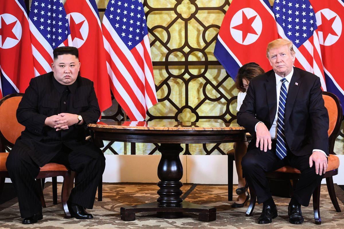 特朗普與金正恩二度會面最終未能達成協議,特朗普堅守底線,引發中共憂懼。(SAUL LOEB/AFP/Getty Images)