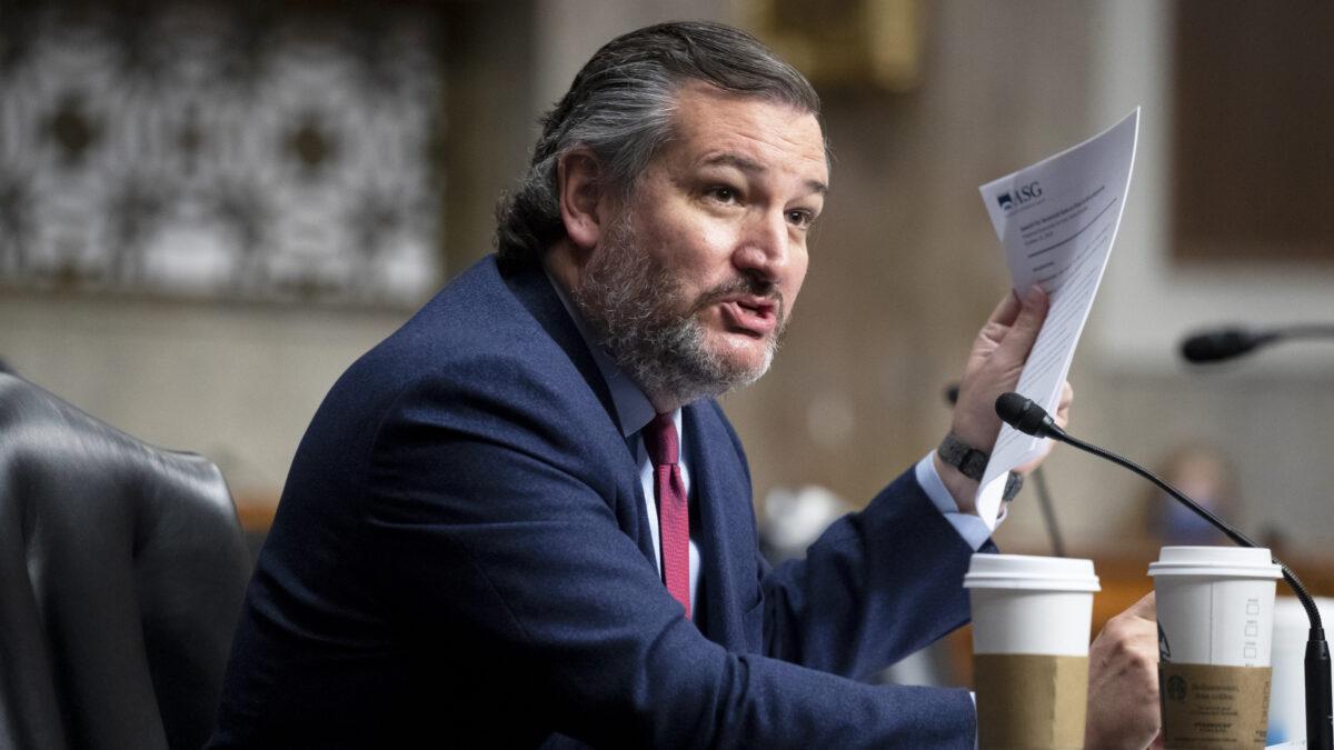 圖為美國德薩斯州共和黨參議員特德·克魯茲(Ted Cruz)資料照。(Michael Reynolds-Pool/Getty Images)