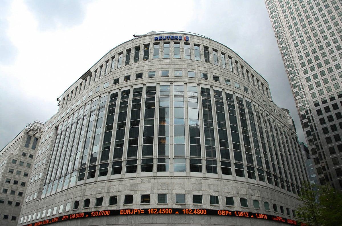 路透社報道說,金融訊息供應商路孚特屈從中共的壓力,對路透社在Eikon平台上發佈的大量新聞進行封鎖。圖為2007年5月9日,位於英國倫敦的路透社總部。(BERTRAND LANGLOIS/AFP via Getty Images)