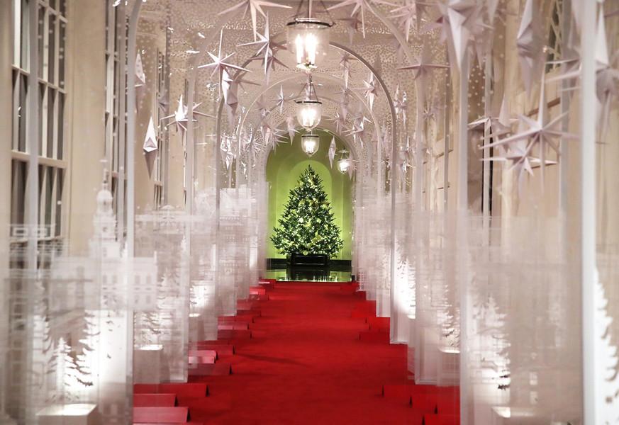 先睹為快 白宮盛裝迎接2019聖誕