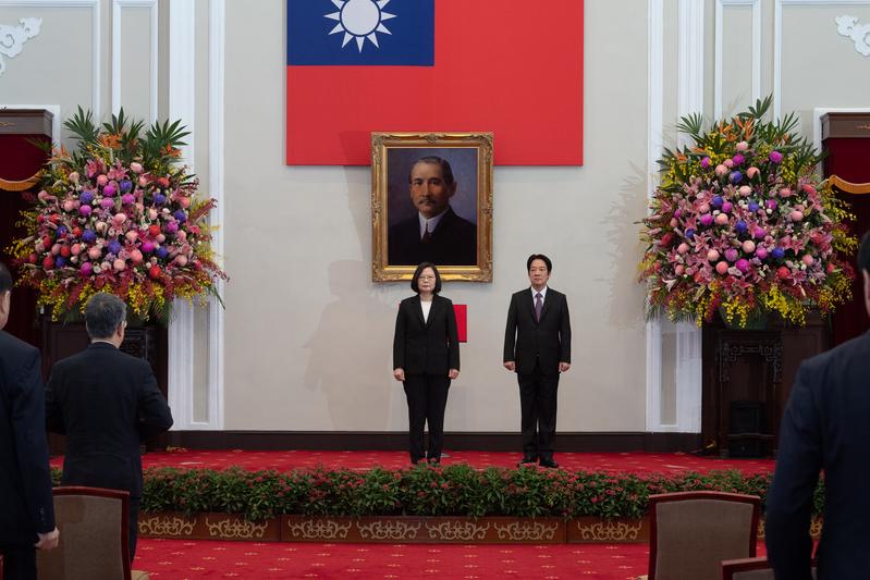中華民國第15任總統蔡英文、副總統賴清德5月20日在莊嚴隆重的儀式中宣誓就職。(總統府提供)